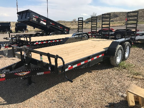 NEW 2018 H&H Trailer 82 in X 18 ft Heavy-Duty Flatbed